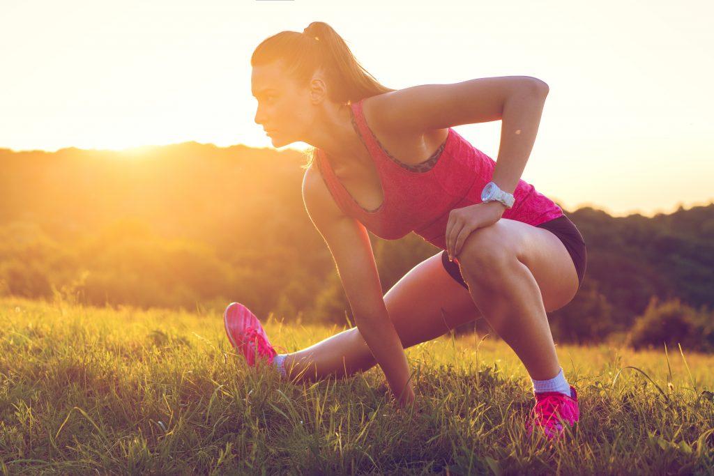 Ćwiczenia rozciągające dla biegaczy.